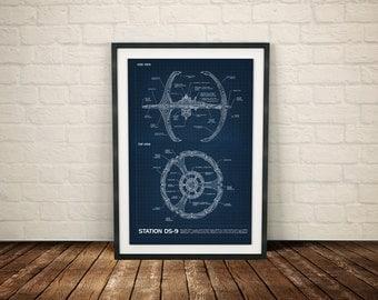 Star Trek DS9 Poster, Star Trek Deep Space 9 Patent, Star Trek DS9 Print, Star Trek DS9 Art, Star Trek Deep Space 9 DS9 PRINT