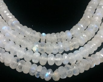 Half Strand 9MM , Rainbow Moonstone faceted Roundel , length 8Inch , top Quality faceted roundel beads