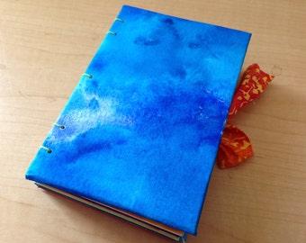 Blue Coptic Stitch Journal