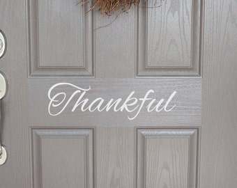 Happy Thanksgiving Door Decal | Thankful | Fall Door Decal | Thanksgiving Door Decal | Thanksgiving Decor | Thanksgiving Decoration