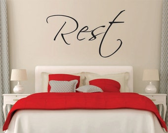 High Quality Rest Wall Decal, Bedroom Wall Decal, Bedroom Wall Decor, Home Wall Decor,