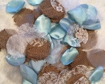 Baby Blue Rustic Rose Petals/Flower Girl Petals/Blue Wedding Decorations/Rustic Wedding Decor/Scatter Petals/Light Blue Petals/Rose Petals