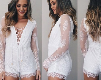 Lay Lady Lay Lace Playsuit