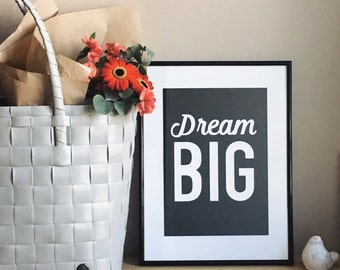 Dream big card or poster