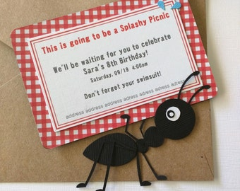 Picnic Ant Invitation