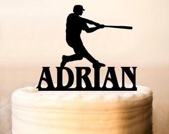 Baseball Cake Topper,Personalised Baseball Cake Topper, Baseball party Cake Topper, Baseball birthday Cake Topper (0115)