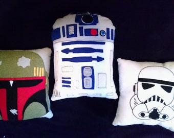 Star Wars Pillow, Star wars, R2-D2, Stormtrooper, Boba Fett, Star wars decor, Star wars gift,