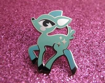 Pastel Deer Pin – Hard Enamel/Cloisonne Lapel Pin [cute/kawaii/kitsch/kitschy]