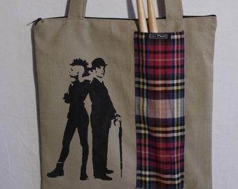 tote bag / purse with stencil