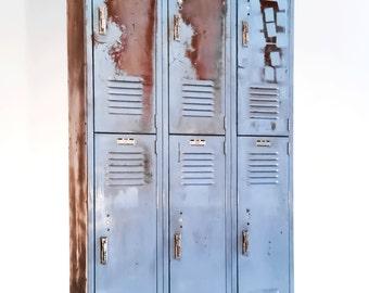 Industrial Vintage School Lockers