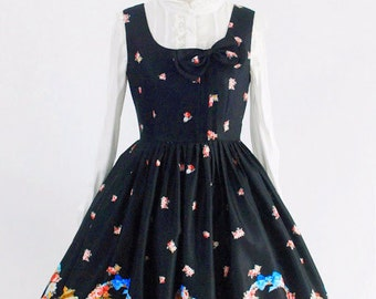 gothic lolita dress black rabbit / Sweet Lolita