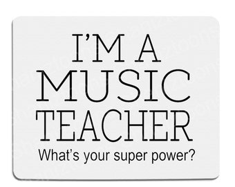Music Teacher Novelty Gift Mouse Mat