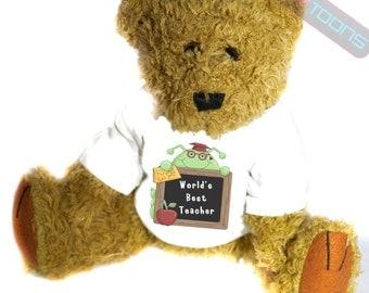 Worlds Best Teacher Novelty Gift Teddy Bear