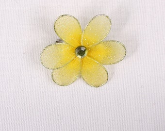 4 pin 35mm, yellow polyester/metal (9223)
