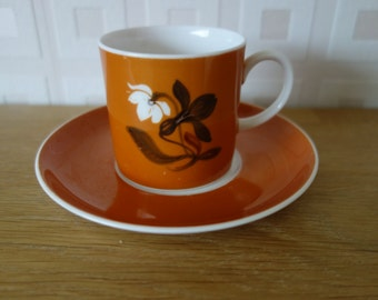 Susie Cooper coffee cup and saucer, bone china England different colours