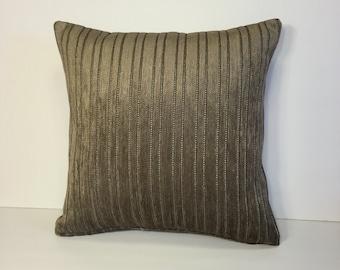 "Custom print throw pillow cover 18"" x 18""."