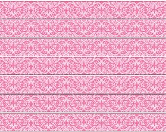 Edible Cake Ribbon, Patterned Ribbon, Cake Ribbon, Pink Ribbon, Edible Icing Paper, Birthday Cake Ribbon, Edible Ribbon