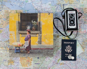 WOOD* La Mujer, Antigua, Guatemala | 10x10 Print on Wood