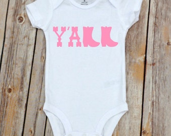 Y'All Onesie, Yall Onesie, Southern Sayings for Babies, Shower Gift, Newborn Gift, Baby Girl Gift