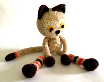 Cat, Ready to Ship, Crocheted Cat, Soft Cat, Toy Cat