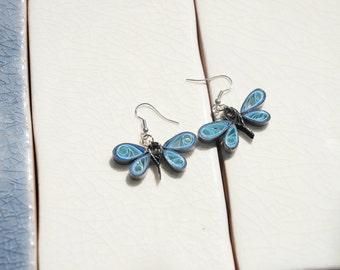 Paper Dragonfly Earrings