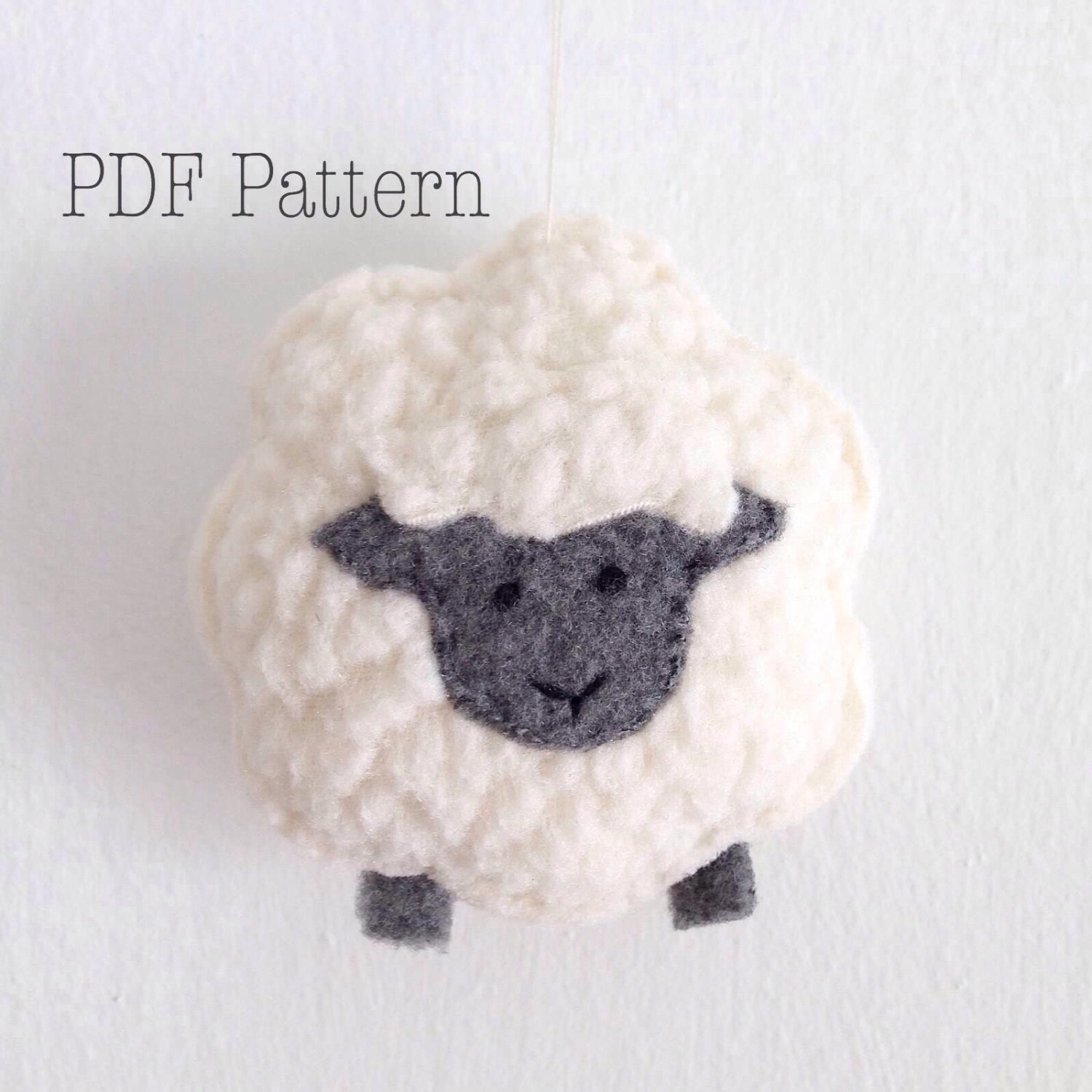Little sheep christmas ornament pattern sheep plush pattern for Sheep christmas ornament craft