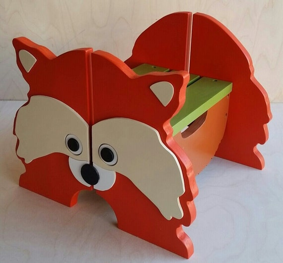 Woodland Fox Step Stool Wooden Step Stool For By