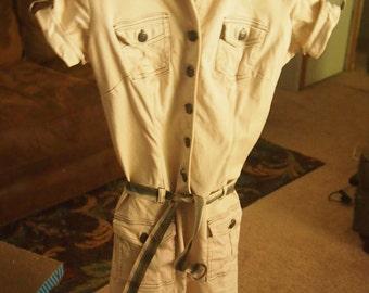 "Vintage ""Zinc"" khaki dress with original belt"