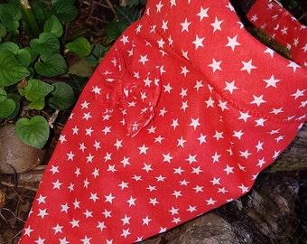 Funky stars fabric collar and bandana set for medium to large dog