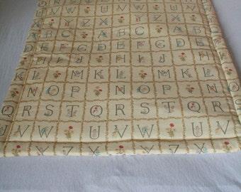 Plaid baby Alphabet