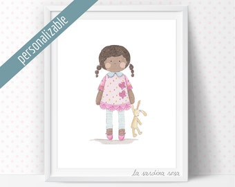 Girl nursery decor, Baby girls room wall art, Custom name, Nursery art, Baby girl gift, Nursery wall art, Baby girl print