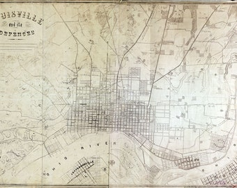 1865 Map of Louisville Kentucky