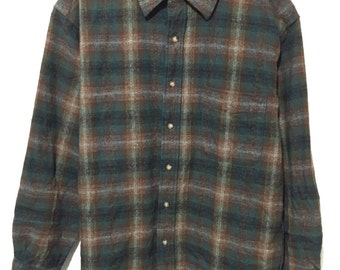 pendleton wool shirt made in usa size M