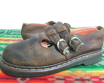 Dr.Martens leather fisherman sandals leather strap made in england size 6