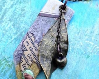 Handmade Mixed Media Charm Necklace