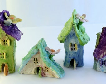Colorful Fairy Houses