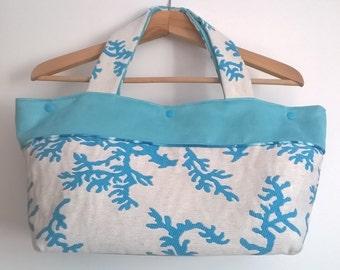 Handbag fabric and suede trquoise