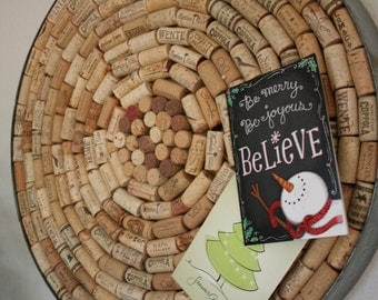 Upcycled Wine Cork Board