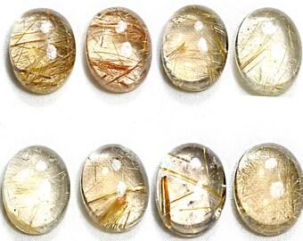 Loose Rutile Quartz Pairs, Rutilated Quartz Online for sale, Rutile Quartz Gemstones Wholesale