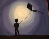 Boy With Kite Silhouette