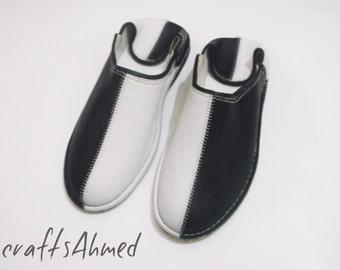 shoes unisex balck and whait size 7UK , handmade shoes