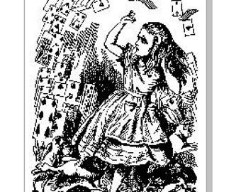 Alice In Wonderland Cards Paper Cut Template (Commercial Use)