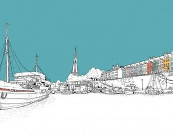 Bristol Thekla and Floating Harbour - Original Print - #bs2andbeyond