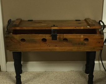 Ammo Crate Wine Table