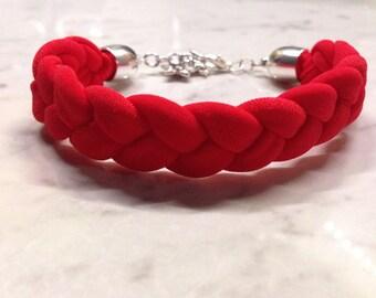 Lycra plaited bracelet
