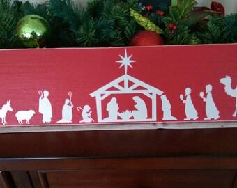Nativity Scene with North Star