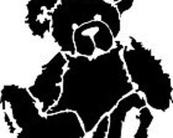 """Stencil, stencil """"Bear"""" Teddy bear toy for child"""