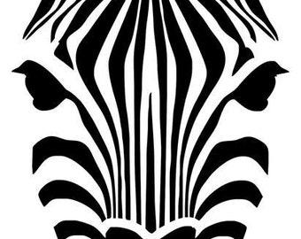 Stencil stencil 'Zebra head'
