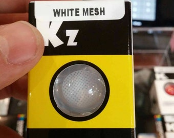 White mesh color contacts