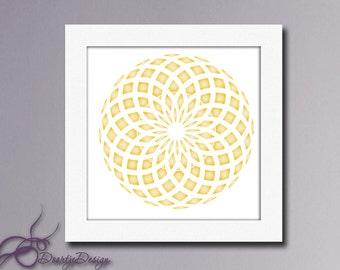 Wall Art Abstract Circles, Printables Abstract Art Gold, Instant Download, Printables circles abstract, Housewarming Gift # 310B